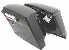 "Mutazu Fat Ass 2"" Wider Extended Stretched Hard Saddlebags for Harley FLH FLT"