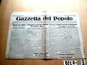 GAZZETTA DEL POPOLO 31 AGOSTO 1944    (8E1A-3)