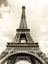 EIFFEL TOWER SEPIA PARIS FRANCE ICONIC ART PRINT POSTER PICTURE BMP195A