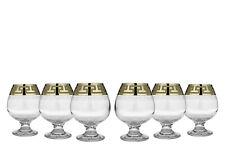 Crystal Goose Gx-01-188, 13.5 Oz. Brandy Glasses with Gold Rim, Set of 6
