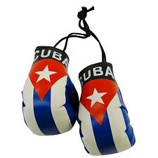 CUBA COUNTRY FLAG MINI BOXING GLOVES .. NEW