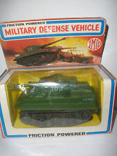 Rare Vintage 1981 Imco friction powered military defence vehicle tank toy box