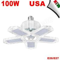⭐⭐⭐⭐⭐ 100Watts LED Garage Light Deformable Foldable Ceiling Lights Cold White