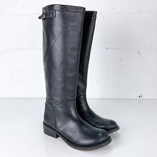 1c81c5bb2dae7c N.Y.L.A. Womens Black Knee High Riding Boots Size 8 Bravery Leather Zip NYLA