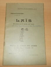 THEATRE EDMOND PASQUIER LAIS 1935 PRIX COMEDIA BEL ENVOI DEDICACE A CECILE SOREL