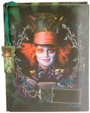 Disney Mad Hatter Lenticular Diary Journal Alice in Wonderland