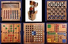 Flaschenpuzzle Flaschen Tresor & Reisespiele aus Holz Schach, Mühle, Reversi
