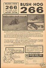 1966 Bush Hog 266 Rotary Cutter Farm Tractor Print Ad Selma AL