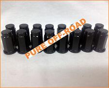 ITP Black Lug Nuts Flat Base 10mm x 1.25 (Set of 16) Sport ATVs, Can Am UTV