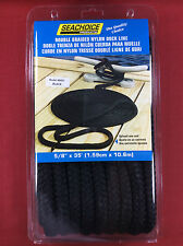 "DOCK LINE DOUBLE BRAIDED NYLON 5/8"" x 35' BLACK ROPE SEACHOICE 40421"