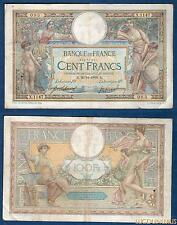 100 Francs Luc Olivier Merson Type 1906 Grands Cartouches – 20/11/1909 X.1147