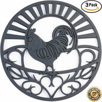 """Silicone Trivets Rooster Design - 7.5"""" Round"""