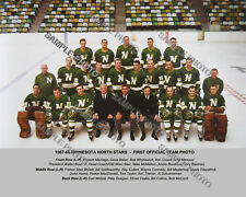 1967-68 MINNESOTA NORTH STARS FIRST INAUGURAL 8X10 COLOR TEAM PHOTO