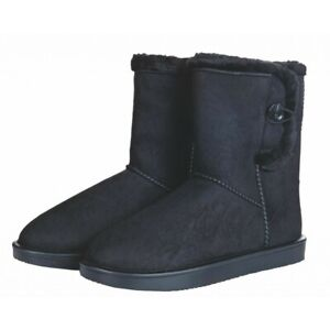 All Weather Davos Boots by HKM - Warm, Comfy & Waterproof! - Black size 5