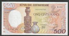 Central African Republic P-14c 500 Francs 1987 Unc