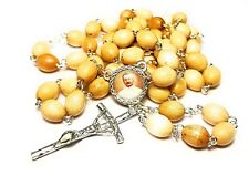Saint Giuseppe Moscati wooden rosary relic patron of bachelors, physicians