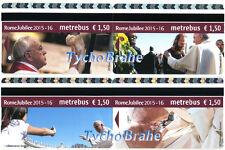 Biglietti ATAC GIUBILEO 2015 ANNO SANTO Roma NEW Metrebus Ticket JUBILEE Francis