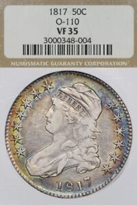 TONED 1817 50C NGC VF35 O-110 Capped Bust Half Dollar