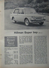 1965 Hillman Super Imp Original Autocar magazine Road test