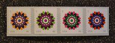 2013USA #4722-4725 46c Kaleidoscope Flowers Coil Strip of 4 Mint  MNH