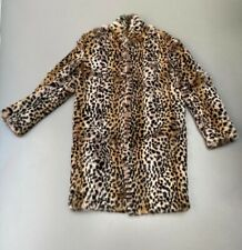 Meteo Yves Salomon Real Rabbit Fur, Leopard Print Coat size 34, UK Size 6/8,US0