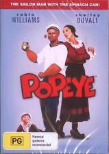 POPEYE DVD=ROBIN WILLIAMS-SHELLEY DUVALL=REGION 0, AUSTRALIAN=BRAND NEW & SEALED