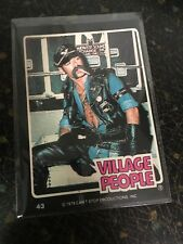THE VILLAGE PEOPLE 1979 GLENN DONRUSS ROCK STARS SERIES CARD # 43 NEAR MINT