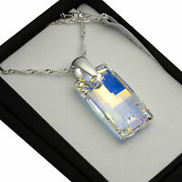 925 Silver Necklace made with Swarovski Crystals *Crystal AB* URBAN