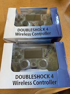 (2)-Double Motor Vibration 4 Black Gaming Wireless Gamepad Joystick Controller