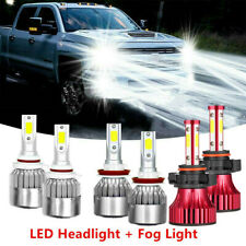 6x 6000K LED Headlight + Fog Light Bulbs For Chevy Silverado 1500 2500 2007-2015