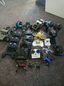 Mixed Lot Of RC DRONES MINI DRONES, RC OFFEROAD CARS, Controllers Untested.