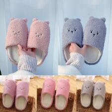 Women's Cute Cartoon Bear Slippers Soft Plush Autumn Winter Warm Indoor Shoes