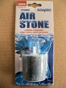 """Active Aqua Air Stone, Cylinder, Medium, 2"""" x 2"""" x 1/4"""" - oxygen diffuser"""