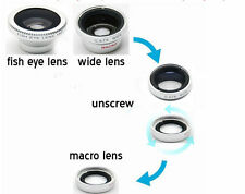 3 in 1 Fish Eye Wide Angle Macro Black Magnetic Lens For All Smartphones