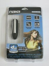 Naxa Digital MP3/WMA Audio Player with FM Radio, 4GB NM-105, New Sealed