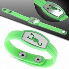 Bracelet homme watch caoutchouc vert clair scorpion