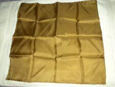 "Vintage Dumont 100% Silk 18"" Square Pocket or Neck Scarf ~ Mocha ~ Italy ~ New"