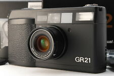 *NEAR MINT IN BOX* RICOH GR21 35mm Point & Shoot Film Camera w/ Hood From JAPAN