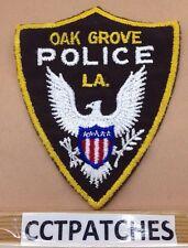 VINTAGE OAK GROVE, LOUISIANA POLICE SHOULDER PATCH LA