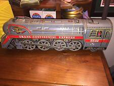 VINTAGE TRANS-CONTINENTAL EXPRESS #6601 TIN TOY LITHO TRAIN (JAPAN)<<WORKS GREAT