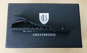 Burberry Black Label Crestbridge Tie Clip Tie Bar Matte Black Japan ONLY!!