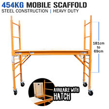 Mobile Steel Scaffold - 454kg - Plywood Platform with Hatch - Work Portable High