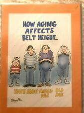 Humorous Papyrus Birthday Card - How Aging Affects Belt Height for Men -Reynolds