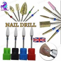 "Gel Acrylic Carbide CUTICLE CLEAN Alloy Drill Bit 3/32"" Manicure Nails Tool File"