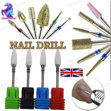 """Gel Acrylic Carbide CUTICLE CLEAN Alloy Drill Bit 3/32"""" Manicure Nails Tool File"""