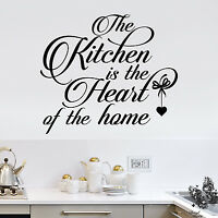 Kitchen Wall Sticker Vinyl Decal The Kitchen is the Heart of the home DF86