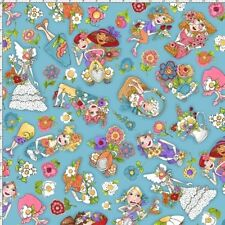 Loralie Blossom 692 167 Turquoise Toss By The Yard Cotton Fabric
