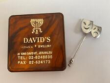 Comedy Tragedy 925 Stamped Silver Stick/Tie Pin from Davids Jewellery Jerusalem