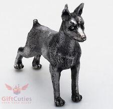 Tin Pewter Figurine of Miniature Pinscher Dog IronWork