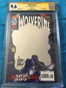 Wolverine #100 - Marvel - CGC SS 9.6 NM+ - Signed by Adam Kubert, Larry Hama